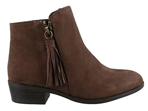 MIA Kids Girl's, Tatum Ankle Boots Dark Brown 13 M (Suede Shoes Dk Kids Brown)