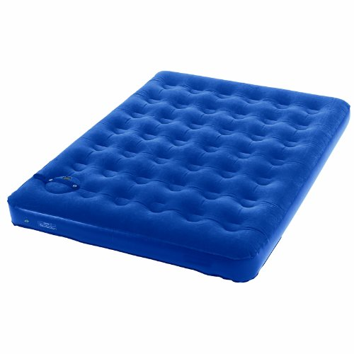 Wenzel Twin Flocked Air Bed with Built-in Comfort Adjust Manual Pump, Outdoor Stuffs