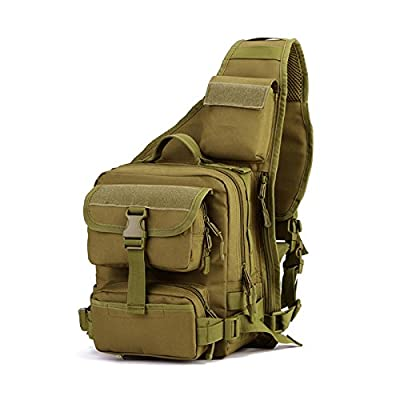 Tactical Military Sling Chest Pack Bag Molle Daypack Laptop Backpack Large Shoulder Bag Crossbody Duty Gear For Hunting Camping Trekking