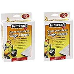 "VITAKRAFT 512071 7-Pack Super Absorbent Cage Liners for Birds, 20"" X 18"" ((2.Units))"
