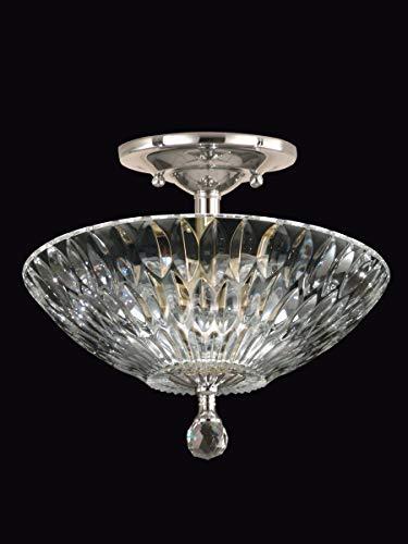 Dale Tiffany GH60718PC Lightwater Crystal Semi Flush Mount Polished Chrome