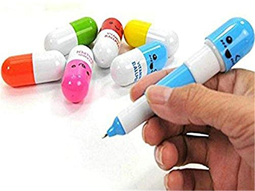 Tcplyn 6pcs Rollerball Blue Ink Pen Creative Pills Shape Emotion Lovely Pens for Office School Students by Tcplyn (Image #4)