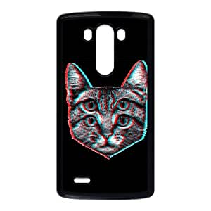 LG G3 Phone Case Covers Black 3D Cat DWP Phone Case Customized Protective