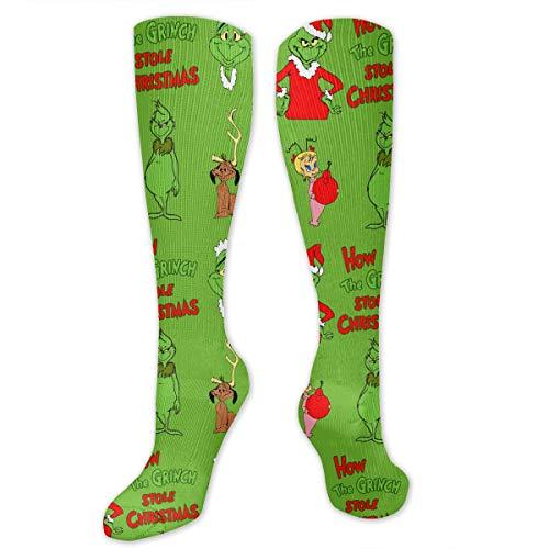 PSnsnX The Grinch Stole Christmas Women & Men Cotton Crew SocksDress Socks