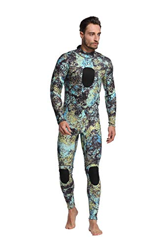 Nataly Osmann Mens 3mm //1.5mm Wetsuits Camo Neoprene Full Body Diving Suits One Piece Spearfishing Suit