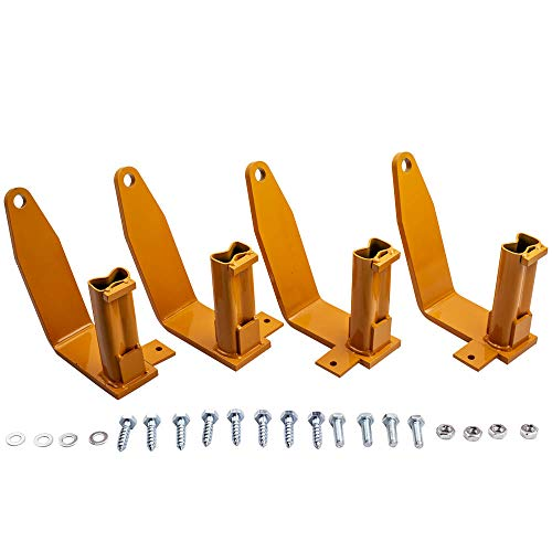 For Chevy Avalanche 2007-2010 Camper Stake Pocket Tie Down for TDSF - Set of 4 - Golden