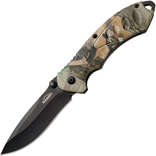 Remington Cutlery R11610 F.A.S.T. 2.0 Medium Folder Assisted Opener Knife with Black Oxide Blade, 4 1/4-Inch, Mossy Oak Obsession