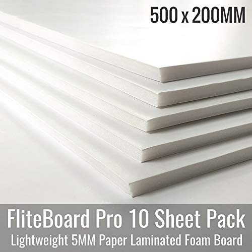 Vortex-RC FliteBoard Pro - 5MM, 500x200mm, Paper Laminated FoamBoard – 10 Sheet Pack -Ideal for Building Flite Test RC Planes and Models (B07Z1ZRBM6) Amazon Price History, Amazon Price Tracker
