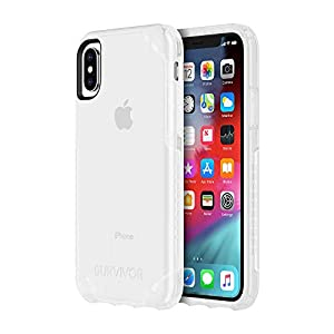 Griffin Survivor Strong iPhone Xs Case with Slim and Shock-Absorbing Design – Clear