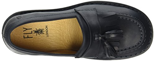 Mujer Negro Juno negro Mocasines London FLY para 1wgXIHIq