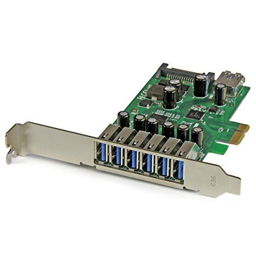 7 Port PCI Express USB 3.0 Card - Standard & Low-Profile - SATA Power - UASP Support - 1 Internal & 6 External USB 3.0 Ports