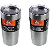 SET OF 2 -- 20 ounce Double-Wall Insulated Stainless Steel Tumbler