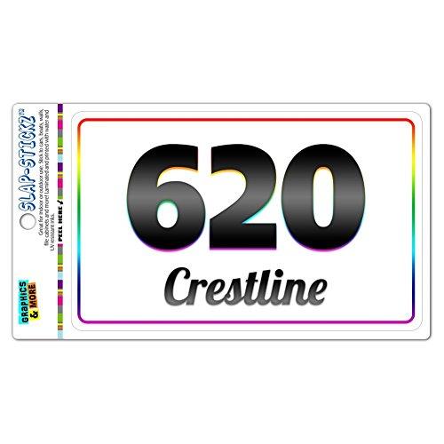 Area Code Rainbow Window Laminated Sticker 620 Kansas KS Abbyville - Crestline - Crestline
