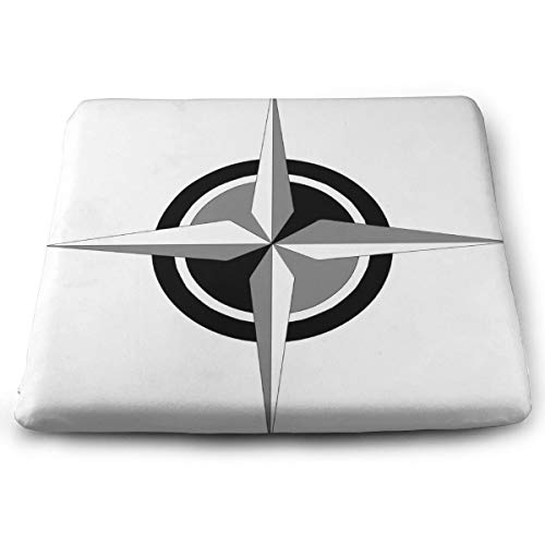 - Ladninag Seat Cushion Compass Vector Art Chair Cushion Offices Butt Chair Pads for Cars/Outdoors/Indoor/Kitchens/Wheelchairs