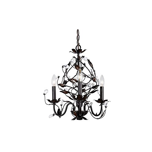 3-Light Oil Rubbed Bronze Chandelier
