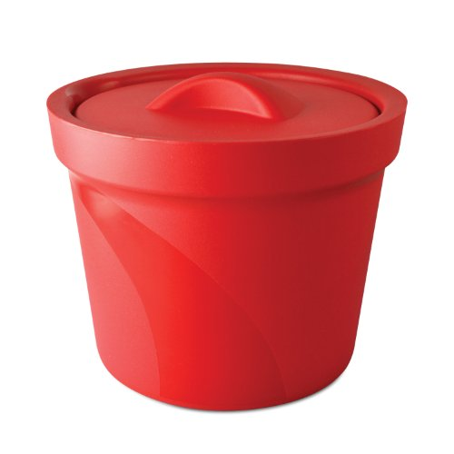 Bel-Art Magic Touch 2 High Performance Red Ice Bucket; 4.0 Liter, With Lid (M16807-4003) -