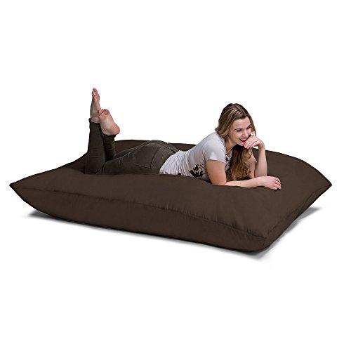 - Jaxx Pillow Saxx 5.5-Foot - Huge Bean Bag Floor Pillow and Lounger, Chocolate
