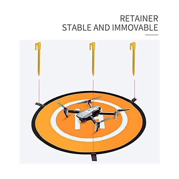CaLeQi Drone Landing Pad Universale Impermeabile Portatile Pieghevole Landing Pad 55cm/21.65 ''per RC Drone Elicottero, PVB Droni, DJI Mavic PRO Phantom 2/3/4 PRO, Antel Robot, 3DR Solo 4 spesavip
