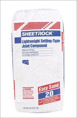 Lightweight Joint Compound - Sheetrock Lightweight Joint Compound- 20 18 Lb Sand 20 - 30 Min