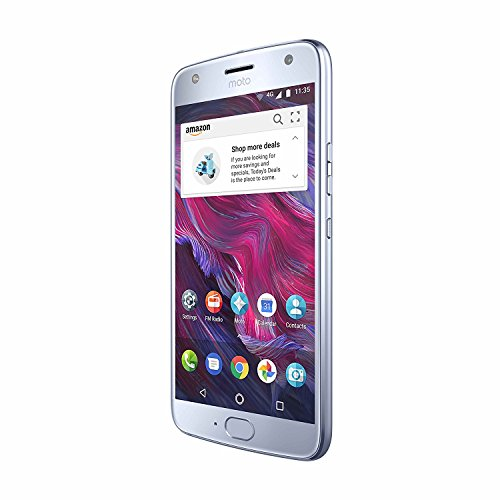 Moto X (4th Generation) with Alexa Hands-Free – 32 GB – Unlocked – Sterling Blue – Prime Exclusive