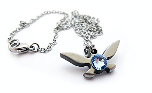 [Zelda Navi Necklace - The Original - Handmade - Length 18in] (Knock Out Costumes)