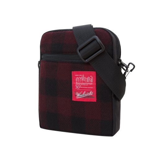 Manhattan Portage Woolrich Buffalo Check City Lights Bag, Red/Black, One Size