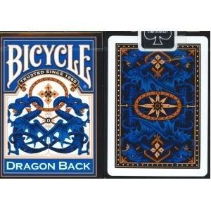 Toy / Game Bicycle Blue Dragon Custom Back Design Playing Cards (Limited Edition) with 52 standard ()
