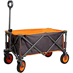 PORTAL Collapsible Folding Outdoor Utility Wagon, Grey