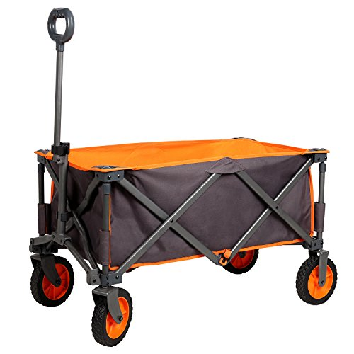 PORTAL Collapsible Folding Outdoor Utility Wagon, Grey by PORTAL