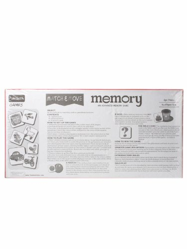 Memory Match and Move board game for 5 year old