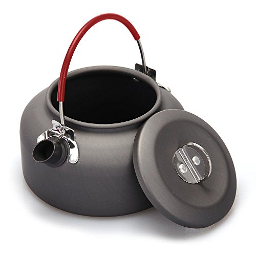 Ezyoutdoor Ultra Lightweight Cookware 0.8L Outdoor Camping Kettle Kettle Tea Coffee Pot For Camping Fishing