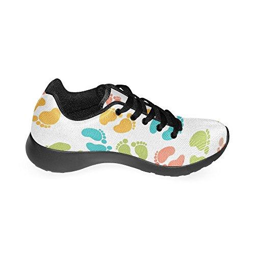 Zenzzle Para de Zapatillas Negro Lona Negro de Mujer Running rHqTr