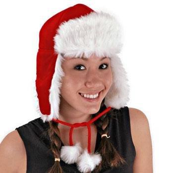 Santa Aviator Hat Costume Accessory
