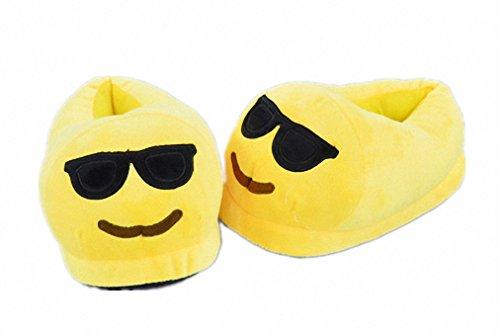 Akanbou Unisex Cute Funny Warm Emoji Home Slippers