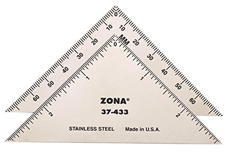 Zona 37-433 Triangle, Stainless Steel, 3-Inch