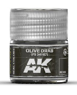 Real Colors: Olive Drab FS34087 Acrylic Lacquer Paint 10ml Bottle