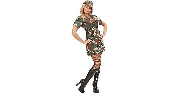 WIDMANN Disfraz Militar Sexy Mujer - L: Amazon.es: Juguetes y juegos