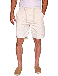 100% Cotton Cargo Shorts With A Drawstring