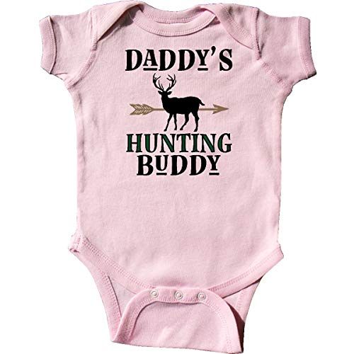 inktastic Daddy Hunting Buddy Bow Hunter Infant Creeper 18 Months Pink