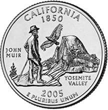 2005 P California State Quarter Choice Uncirculated
