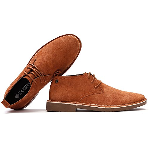 Golaiman Mens Classic Suede Leather Chukka Boots Desert Storm Oxfords Shoes Brown BC97wAlOL