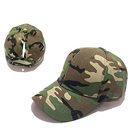 HAT HOME Explosive hats Autumn and winter creative new baseball caps Girls  full camouflage ponytail baseball 9781488884cd