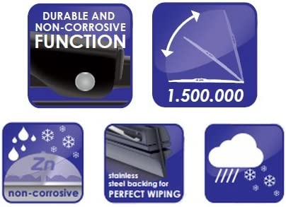 Forester SH 2008-2013 Alca Germany Universal Windscreen Wiper Blades Front Rear Classic 241814 AU2418H14ARC