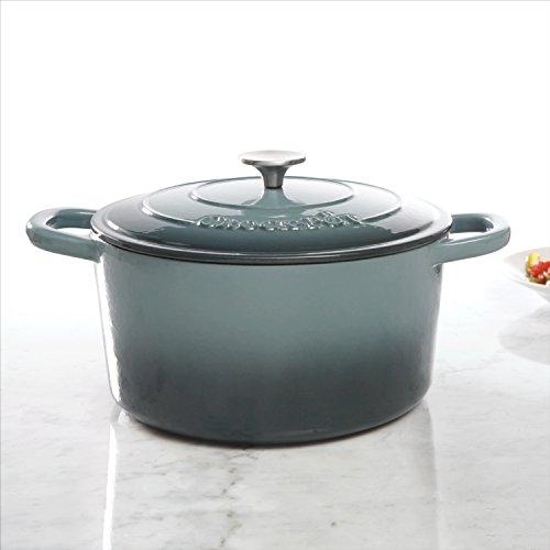 Crock Pot Artisan Round Enameled Cast Iron Dutch Oven, 5-Quart, Slate Grey