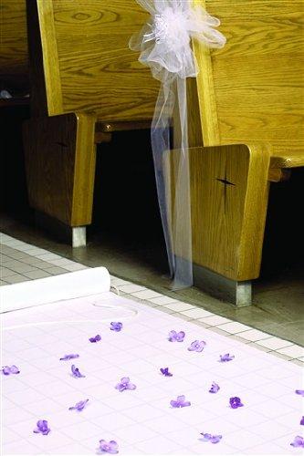 Hortense B. Hewitt Wedding Accessories Aisle Runner, 36-Inch Wide by 100-Feet Long, White 30050