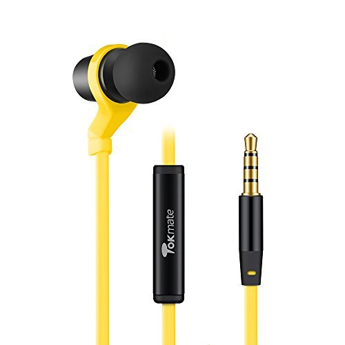 Tokmate COR200Y Core Bass In-Ear Headphone with Microphone (Yellow) ()