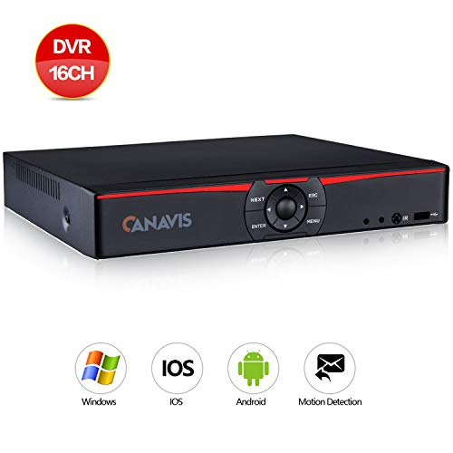 Hybrid Analog (CANAVIS 16Channel 1080N Hybrid 5-in-1 DVR H.264 CCTV Security Surveillance DVR Record System NO Hard Disk (Full 720P,QR Code Scan Quick Access, Smartphone& PC Easy Remote Access))