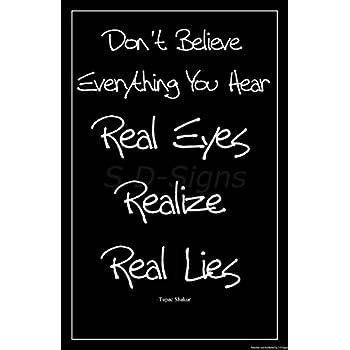 Amazoncom Tupac Shakur Quote Motivational Art Print Poster Dont