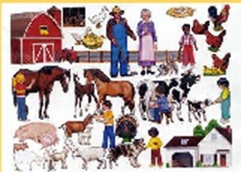 (Little Folk Visuals LFV22307 Farm Flannel Boards)