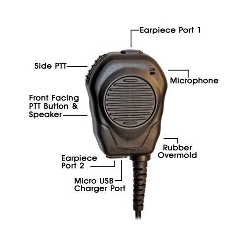 Klein Valor Shoulder Speaker Mic for Push To Talk Over Cellular POC Android Verizon PTT+ AT&T ePTT Mobile Tornado Kodiak